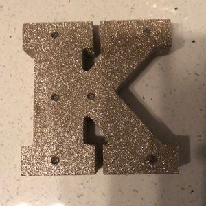 Denim - Letter K decorating item to hang or place on table